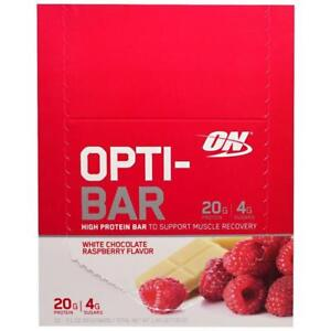 ON HIGH PROTEINE WHEY ISOLATE OPTI-BAR  - OPTIMUM NUTRITION - BARRES WHEY ISOLATE PROTEINES : BOITE / BOX
