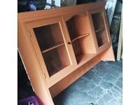 Wall dresser display cabinet