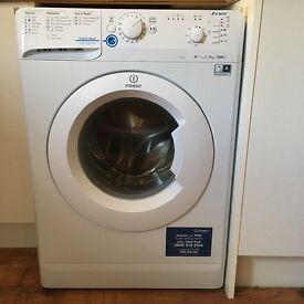 White Indesit Washing Machine for sale.
