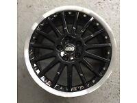 Genuine audi bbs split rim alloy wheels, 18 inch a3 rims.