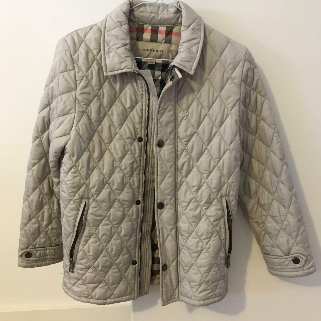 Burberry Childrens Girl Classic Check Lined Diamond Quilted Jacket