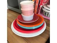 Selection of plates and ramekins FREE