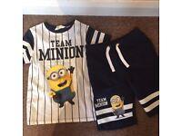 Minion Shorts and T-Shirt Set