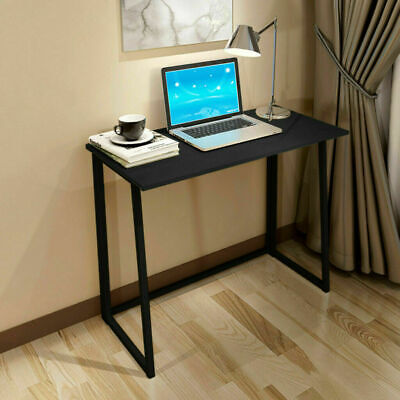 FOLDABLE COMPUTER DESK FOLDING PC LAPTOP TABLE STUDY GAMING OFFICE WORKSTATION