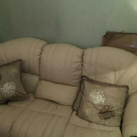 3 Piece Suite 3 seater + 2 Chairs