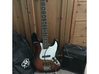 Bass guitar, amp, lead & bag all VGC. Excellent xmas pressie for the musician in your life. £95ono