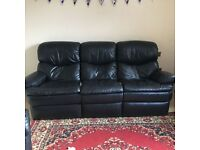 FREE 3+1 Leather Recliner Sofa Need to collect asap