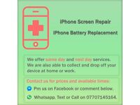 Same & Next Day iPhone Screen & Battery Repair Service
