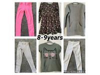 Girls clothes bundle, t-shirts, leggings, dresses