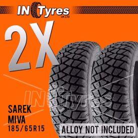 2x 185/65R15 Sarek Miva / Alaska Tyres 185 65 15 Shore60 Autograss /Rally /Track