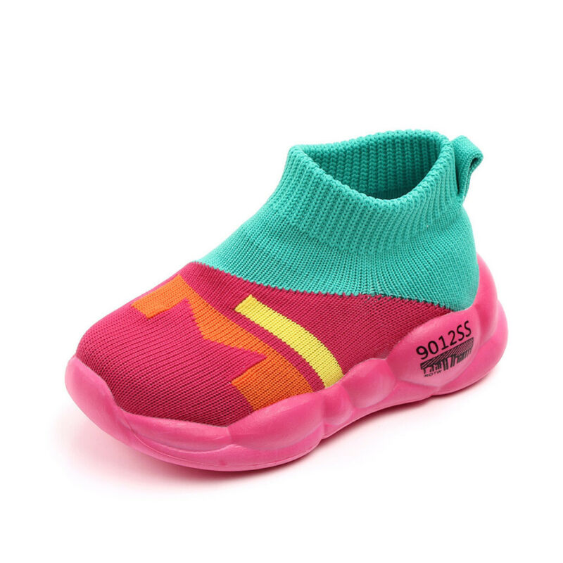 Toddler Baby Girls Boys Mesh Soft Sole Knitted Shoes Sneakers