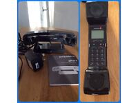Cordless phone, 'Swissvoice, ePure' black, good condition, with instructions.