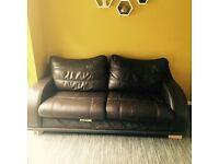 Brown 3 seater sofa free to collect