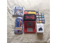 LOOK RED NINTENDO DSI WITH BRAND NEW CHARGER 14 GAMES BRAND NEW CASE PLUS SONIC STYLUSES