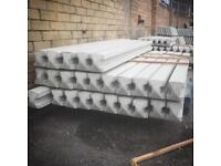 9ft intermediate reinforced concrete fence posts