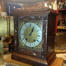 Antique Solid Oak Lenzkirch Carved Clock.....