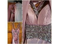 Rose pink promor bridesmaid dress