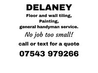 Professional floor and wall tiling, laminate fitter, handyman services