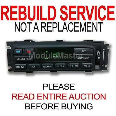 (Ford Lincoln Mercury EATC Climate Control Module Heater AC REBUILD REPAIR)