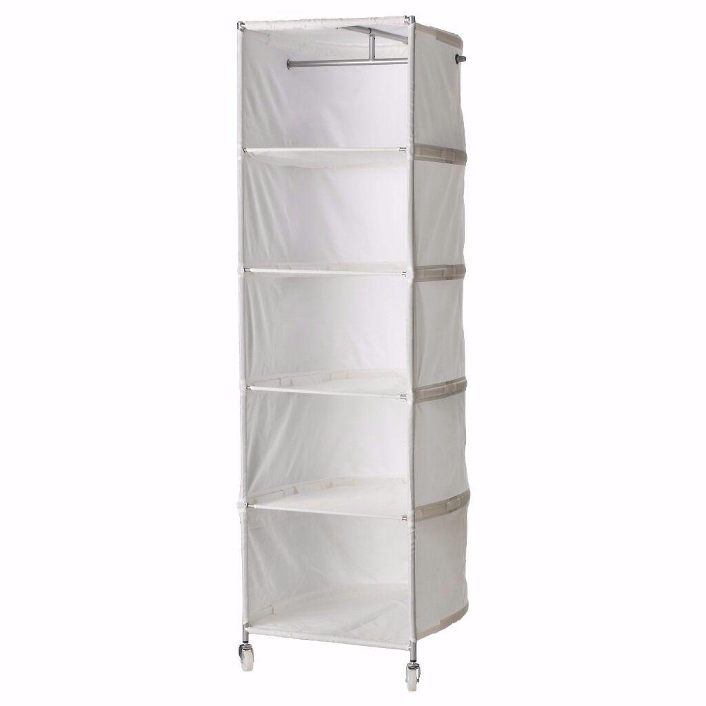 Canvas Storage Wardrobe. NEU HOLZ Kleiderschrank Stoff Falt ...