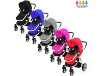 Childs 3 in 1 Girls or Boys New Car Seat, Carry Cot, Pushchair / Buggy / Pram / Travel system Black