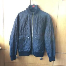 Barbour Black Quilted Jacket. Size M-L