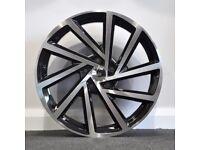 "18"" 2017 Golf R Style Alloys & Tyres.Suit Audi A3,Volkswagen Caddy,Golf,Jetta,Passat,Seat Leon 5x112"