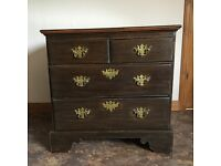 Oak chest of draws