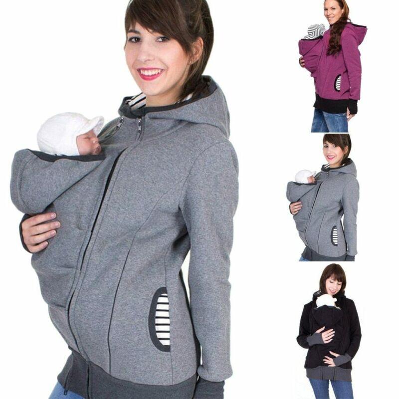 Baby Carrier Jacket Kangaroo Hoodie Winter Maternity