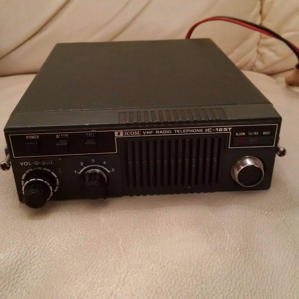 ICOM IC125-T RADIO TRANSMITTER TELEPHONE RECEIVER MARINE MINICAB VHF