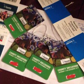 Doncaster Horse Racing Sat November 11th County Enclosure Tickets x 4