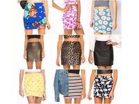 Brand new designer mini skirts - various sizes