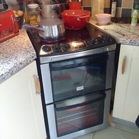 Zanussi self-cleaning double freestanding oven