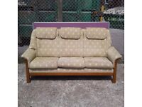 Marriots Green with White Diamonds 3 Seater Sofa (W)