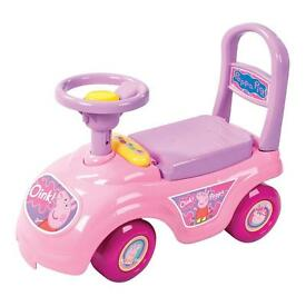 Peppy pig sit and ride on car