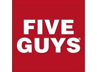 Crew Team Member Opportunity at Five Guys Guildford store