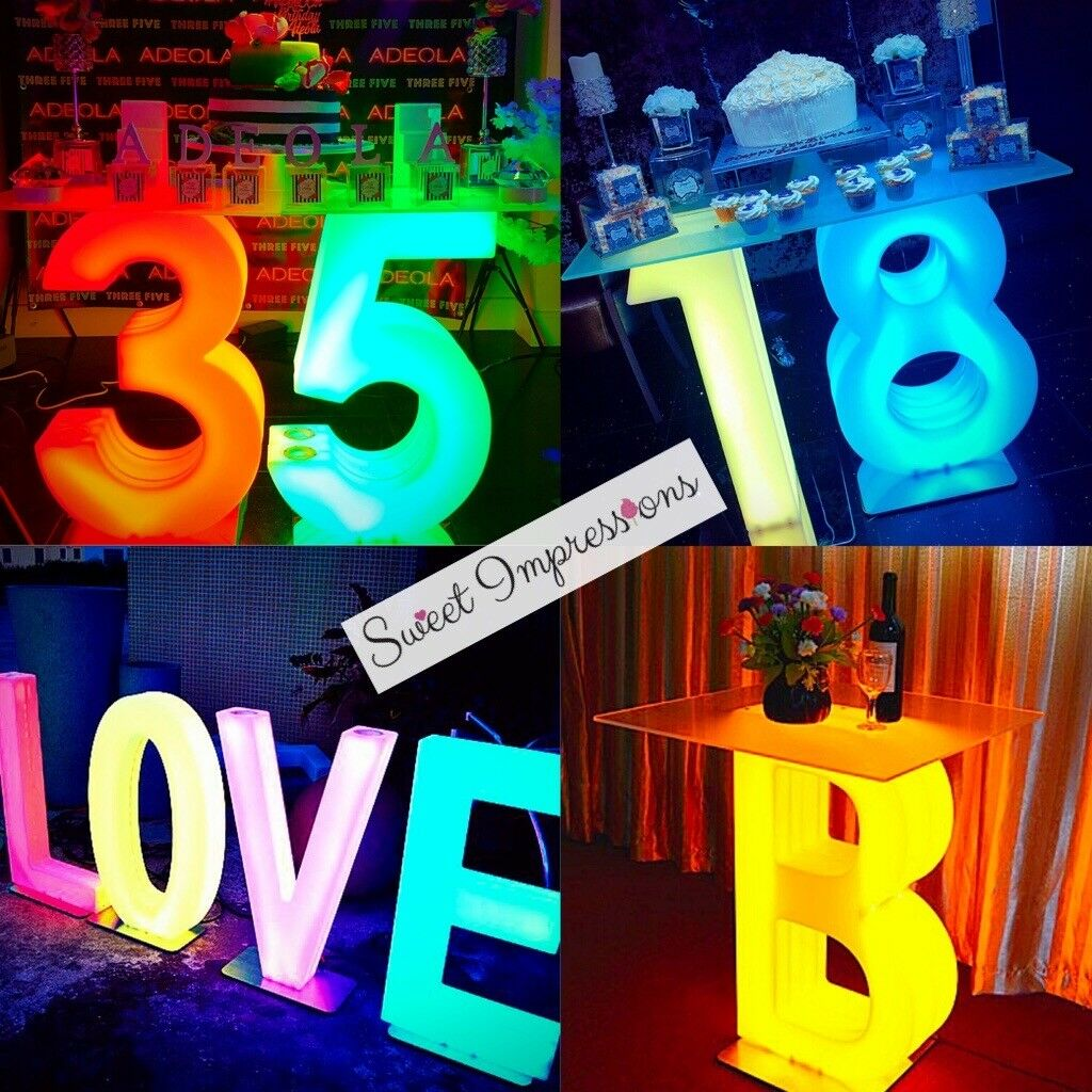 Wedding Love Letter Light Up Letter Table For Hire Baby Shower