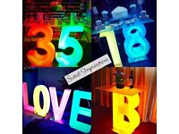 Wedding Love Letter Light Up Letter Table for Hire Baby Shower Birthday Giant Letter Lights Table