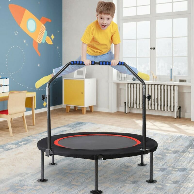 40In Mini Trampoline, Children With Handles, Suitable For In