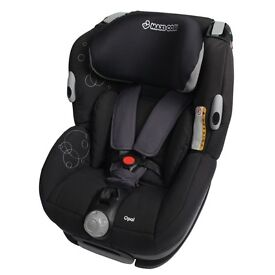 A CHILDS CAR SEAT MAXI COSI OPAL BLACK GREY BABY CAR SEAT