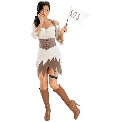 Deserted Island Girl Castaway Girl Deluxe Adult Costume (S/M) Ship Wreck Sweetie - Island Costumes
