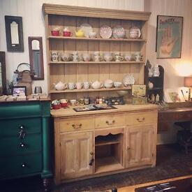 Antique/Victorian pine Welsh dresser