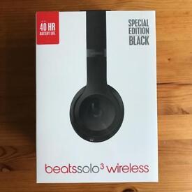NEW BEATS SOLO3 WIRELESS HEADPHONES - SPECIAL EDITION BLACK
