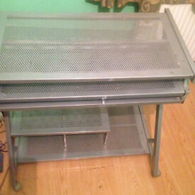 Used Metalic Computer Desk