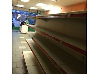 RETAIL/SHOP SHELVES, VERY GOOD CONDITION, OPEN TO OFFERS