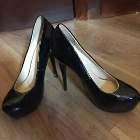 Black high heels glossy UK 5.5/ EU 38