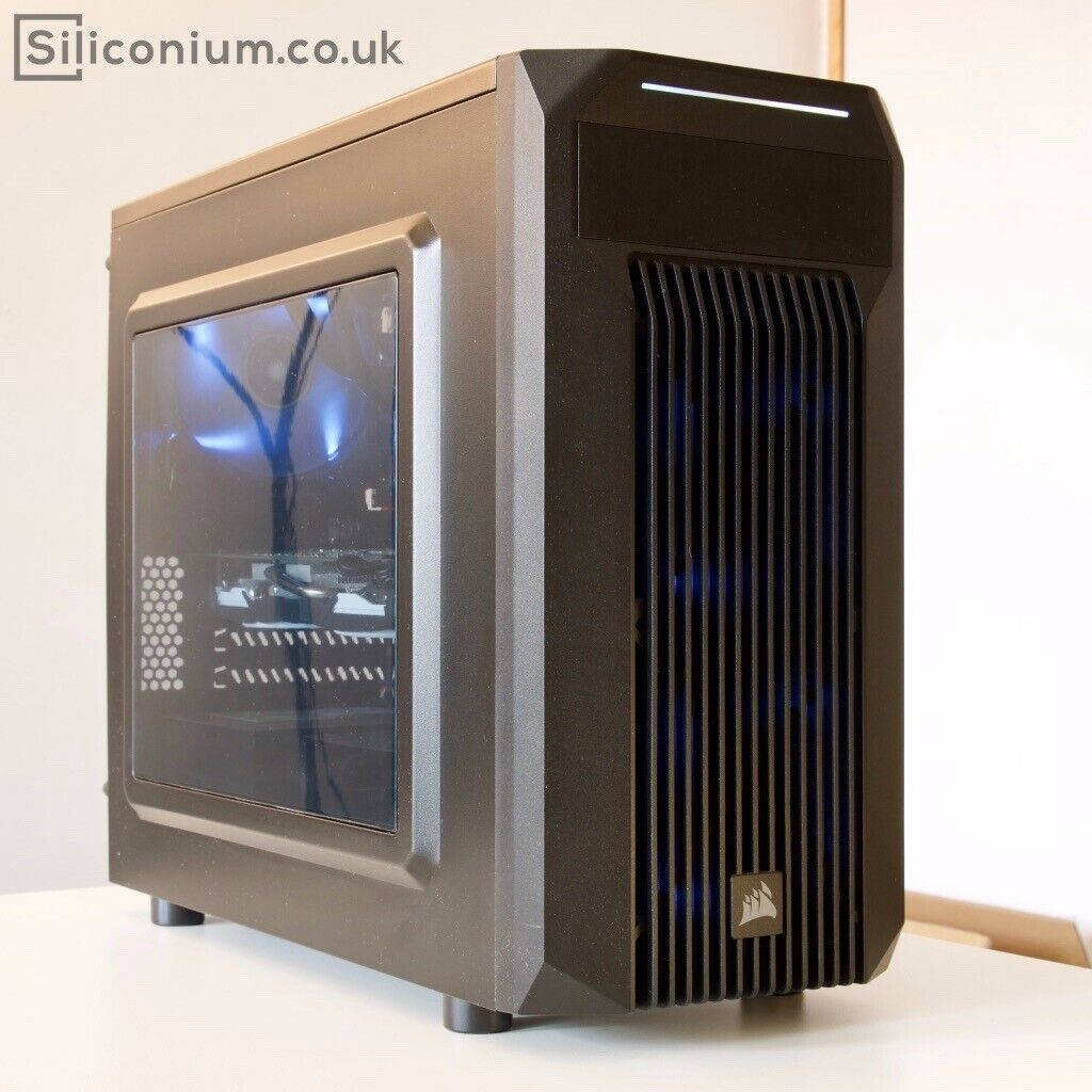 GAMING PC: Core i5-6500 / GTX 1060 6GB / 16GB DDR3 / M 2 SSD 240GB NVME /  Liquid Cooling + White LED | in Meadowbank, Edinburgh | Gumtree