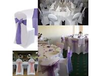 Chair covers, sashes and table cloths for hire!!