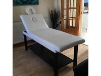 Professional Massage, Beauty, Wax bed with adustable head and removable face rest