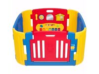 Little Playzone Playpen w/ Electronic Lights and Sounds Play Yard, 8 piece and the Extension kit